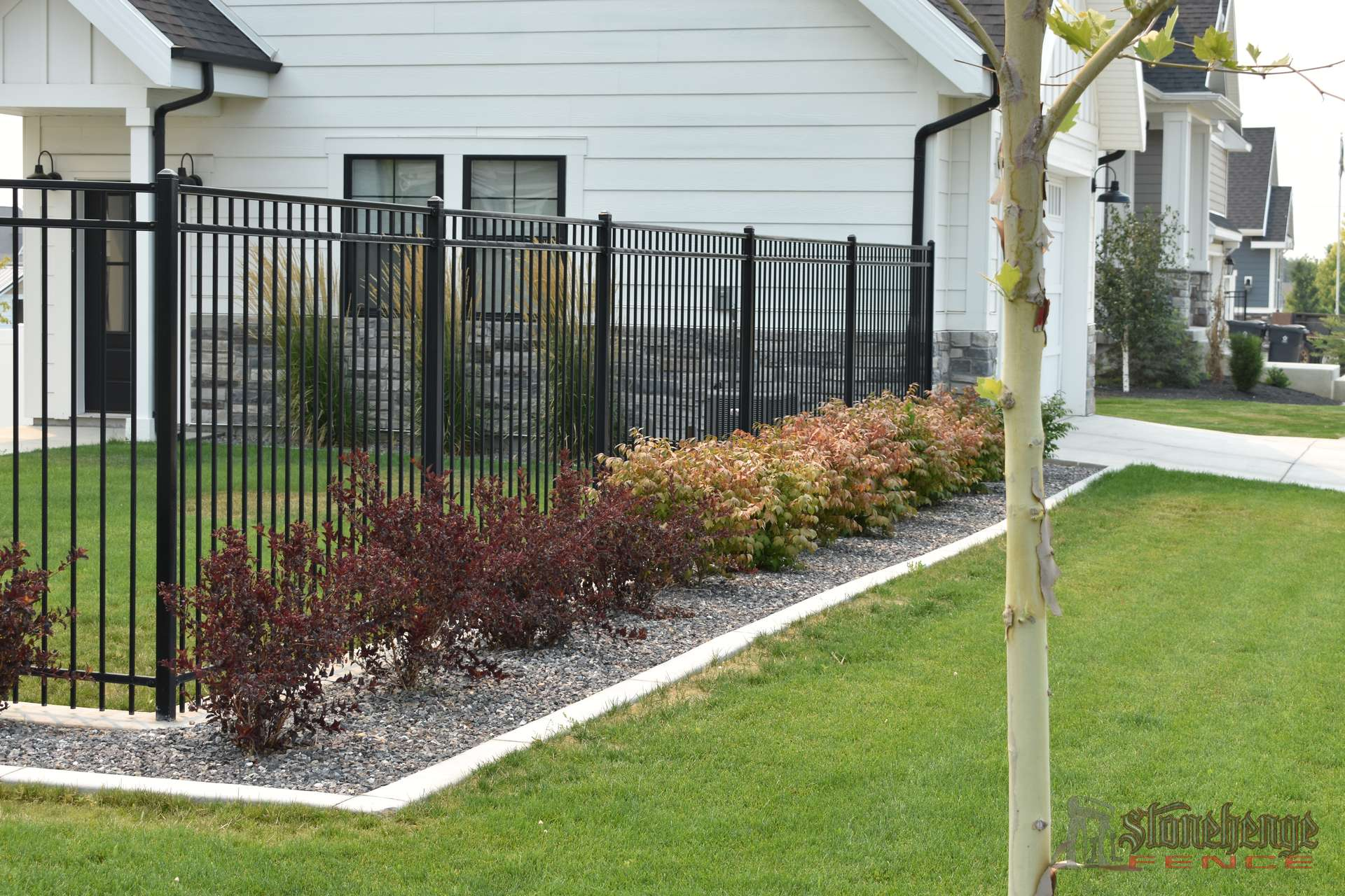 Black Iron Amp White Vinyl Privacy Fence Utah County