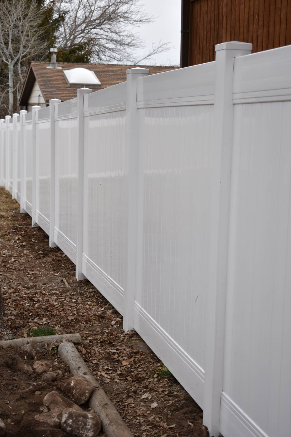 White Vinyl Privacy Fence In West Valley Ut Vinyl